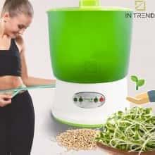 Проращиватель семян ДоброСад - микрозелень в домашних условиях - спроутер - емкость для проращивания зерен - для еды - микрогрин контейнер для выращивания растений круглогодично - гидропонный аэросад прозрачный - поддоны с клапанами