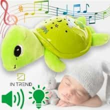 Ночник детский проектор звездного неба Черепашка светильник детский проектор ночник на батарейках в детскую – проектор подушка для детей