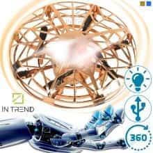 Летающий спиннер JJ 03104 YX - электрическая игрушка летающая тарелка с LED подсветкой  USB портом – вращается в разные стороны на разных скоростях – трюковый для детей от 8 лет.