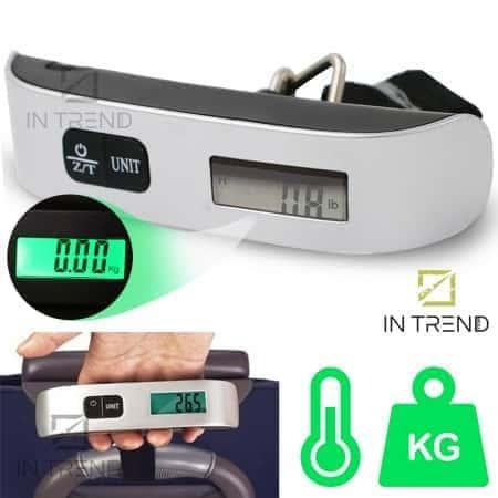 Весы для багажа Electronic Luggage - кантер 50 кг багажные дорожные портативные весы Ручные электронные с цифровым дисплеем до 50 кг  – Серо-черные