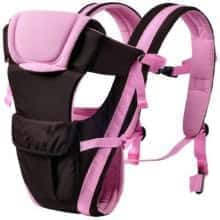 Сумка-кенгуру Baby Carrier BP-14  Черно-розовый