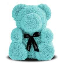 Мишка из роз 3D Bear 40 см Тиффани в красивой подарочной упаковке