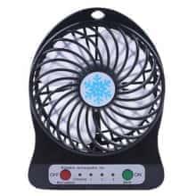 Портативный настольный Мини-вентилятор Portable Fan Mini Черный