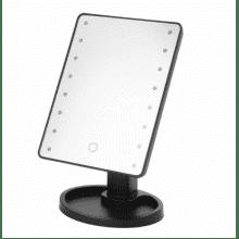 Настольное зеркало для макияжа Magic с LED подсветкой Черное