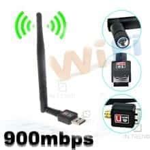 Антенна WIFI USB 802.11 900mbps беспроводной скоростной Wi-Fi USB мини адаптер с антенной, Черный
