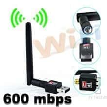 Антенна WIFI USB 802.11 600mbps Беспроводной скоростной Wi-Fi USB мини адаптер с антенной, - Черный