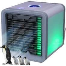 Лучший персональный мобильный Кондиционер Вентилятор с охлаждением - портативный бесшумный Air Cooler 2.0 маленький бытовой ночник - переносной настольный или передвижной напольный комнатный очиститель воздуха для дома -домашний увлажнитель в квартиру юсб