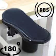 Подставка под локоть Computer Arm Support - поддержка запястья и правой или левой руки / подлокотник для работы за компьютером вращается на 180 градусов – минималистичный  дизайн и удобное крепление из Abs-пластика
