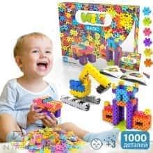 Блочный конструктор для детей Meli Basic Classic 1000 элементов - Детский развивающий игровой пазл - мини головоломка с пластика для творчества и конструирования в коробке