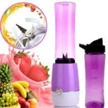 Блендер Shake'n Take компактный и удобный блендер кружка для коктейлей и смузи – функциональный и быстрый для любых смесей – стакан для спортсменов с удобным дозатором / Фиолетовый