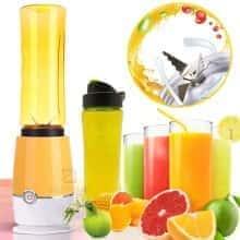 Блендер Shake'n Take компактный и удобный блендер кружка для коктейлей и смузи – функциональный и быстрый для любых смесей – стакан для спортсменов с удобным дозатором, - Желтый