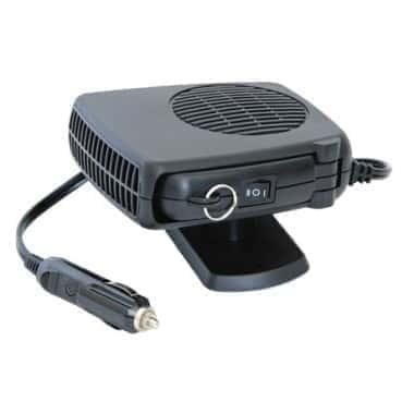 Автомобильный керамический обогреватель салона, дуйка, фен от прикуривателя Car Fan Heater 12 В, 150 W Черный