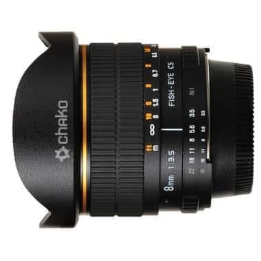 Fisheye объектив для фотоаппаратов с матрицей APS-C Chako 8mm f/3.5 Aspherical IF MC Fish-eye Canon (834221)
