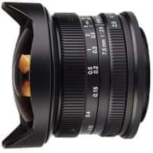 Объектив с широким углом обзора 180 ° 7Artisans 7.5mm f/2.8 Fisheye Canon EOS-M (886608)