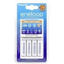 Зарядное устройство Eneloop Panasonic BQ-CC55E Smart-Quick Charger для четырех аккумуляторов AA или AAA (NiMH) + 4 AA 1900 (867841)