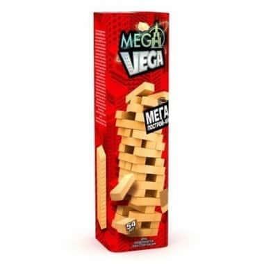 Настольная игра Дженга, деревянная башня Mega Vega рус. InTrend Toys (55904)