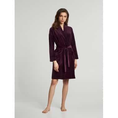 Халат женский фиолетовый велюр ELLEN S (LDG 037/009)