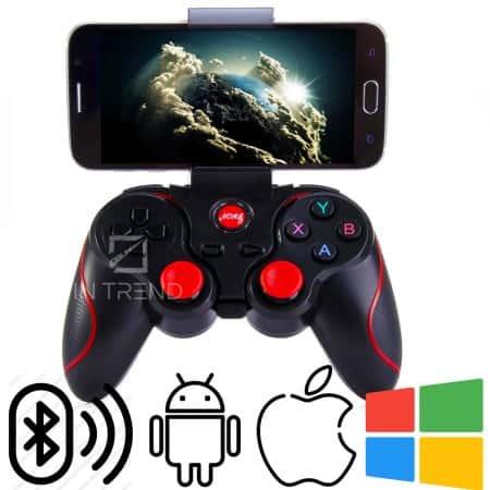 Беспроводной Геймпад Gen Game X3 – Универсальный Джойстик Bluetooth 2.4G бесповодное соиденение /  поддерживает игры на Android / iOS / Windows для геймеров, Черный