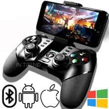 Беспроводной Геймпад ZM-X6 – Универсальный Джойстик Bluetooth 2.4G бесповодное соиденение /  поддерживает игры на Android / iOS / Windows для геймеров Черный.
