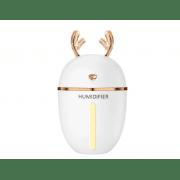 Ультразвуковой мини увлажнитель воздуха с LED подсветкой Humidifier Original Лось с функцией ароматизации и питанием от USB, Белый