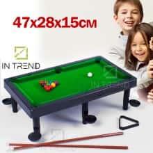 Детский Бильярд американка настольный на ножках - маленький игрушечный американский Бильярдный стол + шары для бильярда с аксессуарами для детей Pool Set 661, Зеленый