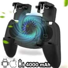Беспроводной Геймпад  Union PUBG Mobile SX – Универсальный Джойстик с вентилятором и встроенным аккумулятором /  поддерживает игры на Android / iOS /  для геймеров - Черный