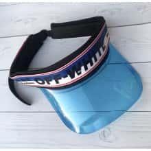 Солнцезащитный Козырек кепка Moreno козырек-очки из прозрачного пластика OFF White Черно-синий