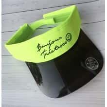 Солнцезащитный Козырек кепка Moreno козырек-очки из прозрачного пластика Салатово-черный