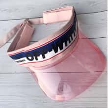Солнцезащитный Козырек кепка Moreno козырек-очки из прозрачного пластика OFF White Розовый