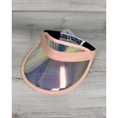 Козырек от солнца InTrend солнцезащитный козырек-очки из прозрачного пластика, 100% защита от ультрафиолета Перламутровый Персиковый