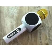 Беспроводной Bluetooth Караоке Микрофон в чехле InTrend L19 Original со светомузыкой White