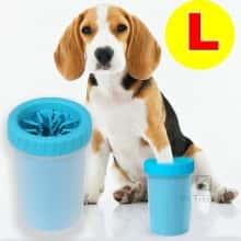 Лапомойка - Стакан для мытья лап DOG FOOT WASH CUP – очиститель лап силиконовый – Чаша для мытья лап собакам и кошкам легкий компактный удобный и практичный в использовании для ежедневной чистки, размер L, Голубой