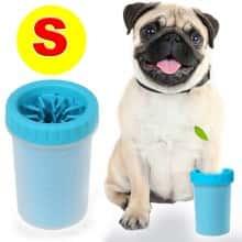 Лапомойка - Стакан для митья лап DOG FOOT WASH CUP – очиститель лап силиконовый – чаша для митья лап собакам и кошкам легкий компактный удобный и практичный в использовании для ежедневной чистки, размер S, Голубой