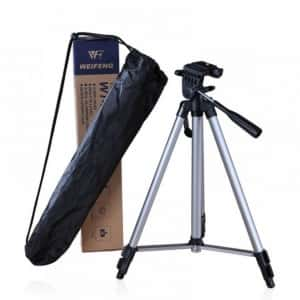 Универсальный алюминиевый высокий штатив подставка - тренога с чехлом для гаджетов Weifeng TR-330A (135 CM) Аксессуар трипод держатель для телефона фотографов и блогеров -– Крепление под смартфон, экшн - камеры, GoPro, фотоаппарата