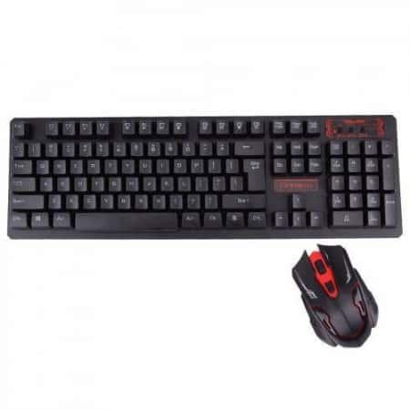Беспроводная игровая клавиатура и мышь KeyBoard HK-6500