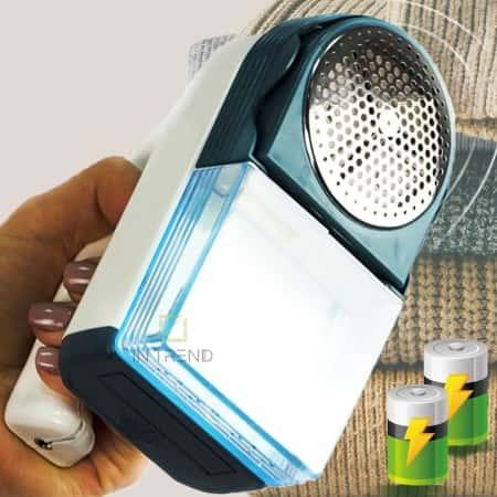 Машинка для удаления чистки катышек с одежды PRYM Maxi на батарейках - триммер - прибор для снятия - стрижки катышков и зацепок - электробритва для свитеров из шерсти - трикотажа - мебели - с лезвиями и защитной сеткой, Темно-зеленая