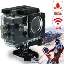 Хорошая экшн камера Action DVR SPORT S2 WiFi Влоговая - Водонепроницаемая камера с креплением и аквабоксом  для подводной и экстрим съемки - Компактная видеокамера для активного отдыха - видеорегистратор в машину, Черный