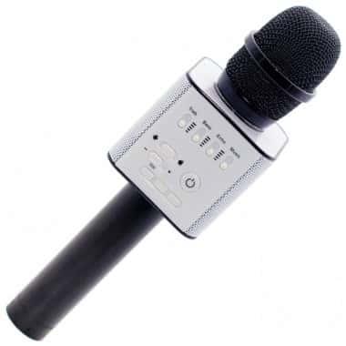 Беспроводной Bluetooth караоке микрофон MicGeek Q9 с 2 встроенными динамиками и чехлом Черный