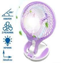 Компактный портативный мини USB вентилятор c охлаждением Handy Mini Fan 18650 юсб – Комнатный - маленький бесшумный ручной охладитель 2 режима на аккумуляторе для дома офиса квартиры машины, Фиолетовый