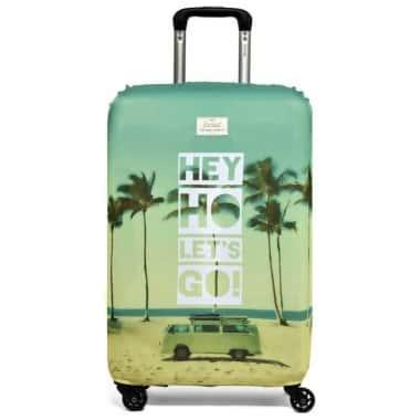 Влагозащитный чехол для чемодана Rocket Design Original Hey Ho Let's Go, Зеленый