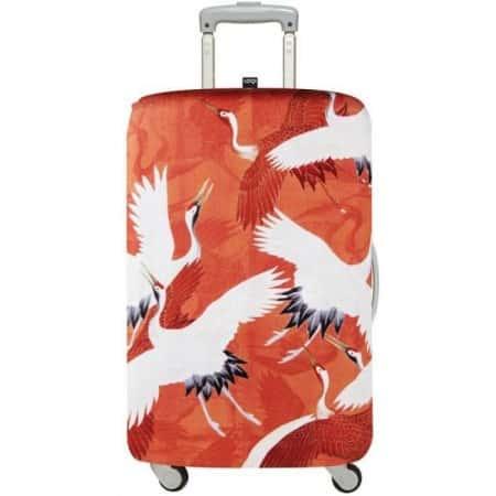 Влагозащитный чехол для чемодана Red Cranes Medium LOQI Original, Красный
