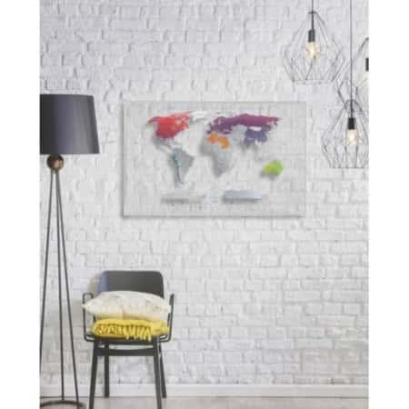 Скретч карта мира 1DEA.me AIR World для путешествий + дизайнерский тубус, Прозрачная