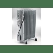 Масляный радиатор обогреватель на 20 кв.м. B-On BN-506-9  2019 New 2000Вт. на 9 секций с механическим термостатом Светло-серый