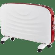 Конвектор электрический Maestro MR 928 2000Вт, электроконвектор, конвекционный обогреватель Белый с красным