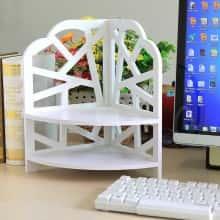 Уголок подставка органайзер для косметики, аксессуаров или детских мелочей DIYS Белый
