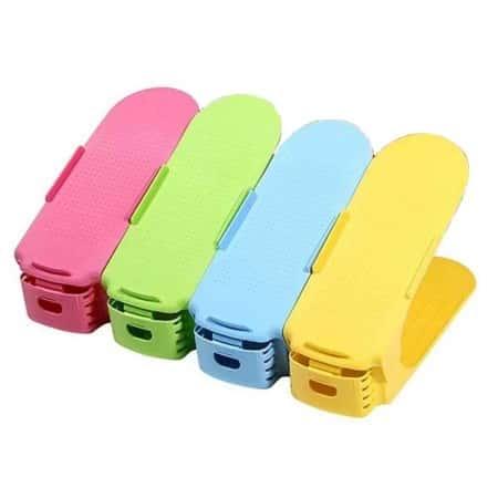 Набор подставок для обуви, двойных стоек Shoe Slotz с регулировкой высоты 4 шт, Разноцветный