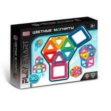 Интерактивный развивающий детский магнитный конструктор Play Smart на 30 деталей (38492)