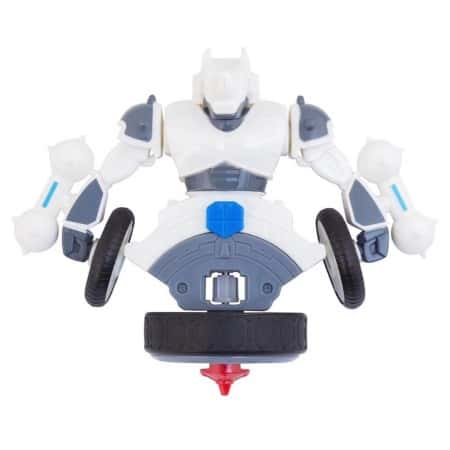 Волчок-трансформер бейблейд для игровых сражений Spin Fighters Transform White Rhino