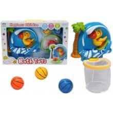 Яркая развивающая игрушка для ванной Тропический баскетбол XING LONG DA TOYS c корзиной и мячиками (53494)