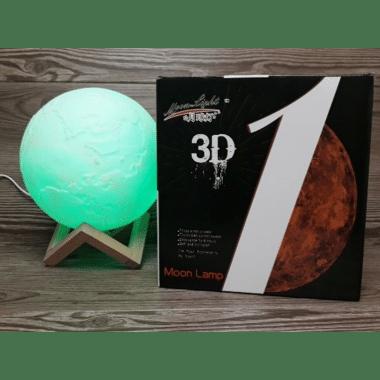 Настольный ночник 3D светильник Magic 3D Moon Light Земля на аккумуляторе с тремя режимами света